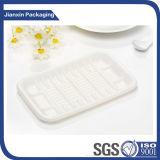 Le plastique biodégradable remplaçable plaque le plateau