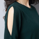 Suéter largo de la alineada de la manera de 2017 nuevas mujeres que hace punto