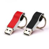 Venda a quente a unidade Flash USB de couro Pen Drive 4 GB 8 GB de 16GB, 32GB, 64GB Flash Drive pendrive USB com anel de chave