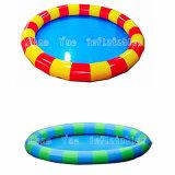 Piscina de água de natação inflável redonda de PVC colorido para o parque de diversões