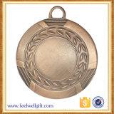 Medaglia su ordinazione di avvenimenti sportivi placcata ottone antico di alta qualità con la sagola