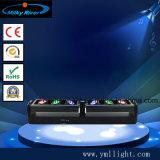 6PCS*12W 4in1 RGBW 크리 사람 이중 무성한 반점 LED 이동하는 맨 위 빛