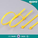 Individu verrouillant les relations étroites en plastique en nylon de fermeture éclair de relations étroites de fil de serres-câble