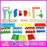 2016 Novo projeto crianças ferramentas de madeira jogo conjunto brinquedo W03D073