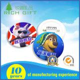Logotipo personalizado de excelente qualidade Botão de plástico do pino de lapela emblema imprimindo uma rocha e Bonitinha Mastim tibetano cão pino de segurança padrão para a Loja
