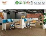 2017 증명되는 SGS에 의해 승인되는 Fsc를 가진 녹색 사무실 스크린 U 모양 워크스테이션 시스템 조합 분할을%s 현대 컴퓨터 테이블 사무용 가구