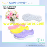 Jelly Color Poes Nuevos Materiales Unisex Holey Casual Shoes for Summer