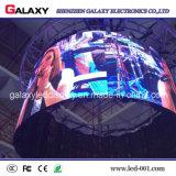 Schermo di visualizzazione esterno dell'interno del LED con il disegno curvo P2.98/P3.91/P4.81/P5.95 per affitto