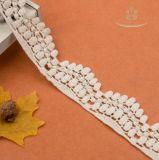 100% algodón de algodón blanco de encaje encaje ojal volante 4cm artesanía/traje/Larp/Mayorista de coser.
