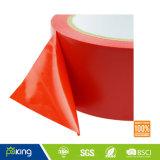Rotes und weißes Belüftung-Vorsicht-Band mit Kautschukkleber