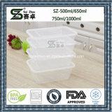 명확한 단 하나 격실 처분할 수 있는 플라스틱 음식 콘테이너 도시락 (SZ-L-500ML)