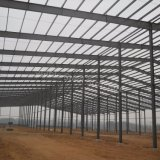 Almacén doble prefabricado del marco de acero de la luz de la cuesta para Etiopía