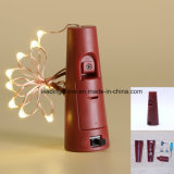 La botella del corcho enciende luces de hadas de la cadena LED 15 bulbos del LED para la Navidad del festival del concierto de la boda del partido