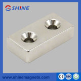 Only One or Two Countersink Strong Neodymium Block Magnet with Nickle Plated