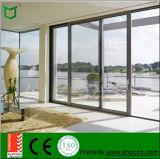 Portes coulissantes en aluminium directes d'usine de la Chine, portes coulissantes imperméables à l'eau d'écran de mouche