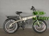 Скрытые складной батареи электрического жир велосипедных шин