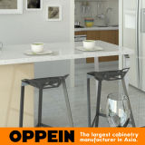現代簡単な薄い色および木穀物のメラミン台所食器棚(OP15-M07)