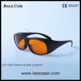 O.D6+ @200-540nm & Nd van O.D5+ @900-1100nm: De Veiligheid Eyewear van de Glazen van de Bescherming van de Laser YAG met Frame 33