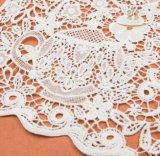 아름다운 메시 꽃 패턴 우아한 감청색 3D Colar 레이스
