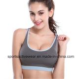 As mulheres personalizaram o sutiã Sublimated ajuste dos esportes do Spandex de Dri