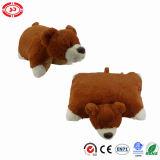 Yellow Cute Soft Peluche Coussin Pet Pet 2in1 Oreiller