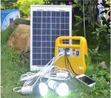 Горячее сбывание в наборе освещения Великобритании 10W солнечном для солнечной домашней осветительной установки