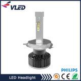 Alta calidad 12V 24V para el coche / el carro todo en una lámpara principal LED de la linterna de los lúmenes LED H4 bulbo