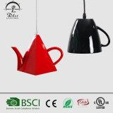 lámpara pendiente de lujo de la taza de té 2017wholesale para la decoración de la cafetería