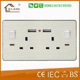 Tomada de Interruptor elétrico de 13 AMP com saída USB