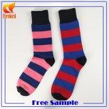 Kundenspezifischer Baumwollgroßverkauf-glückliche bunte Kleid-Socken mit Qualität