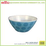 Porcelaine rustique de modèle regardant saladier de mélamine