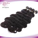 Выдвижение человеческих волос оптовой девственницы объемной волны индийское
