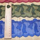 Вышивки ширины оптовой продажи 7cm фабрики шнурок сетки вычуры утески вышивки полиэфира шнурка Stock Nylon сетчатый для вспомогательного оборудования одежды & домашних тканиь & декора занавеса