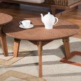 角のコンピュータ表の家具のソファーのコーナー表の簡単な木表A03-4