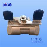 Kugelventil des Edelstahl-1PC mit Basisrecheneinheits-Griff