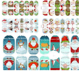 3D Sticker van de Spijker van de Stickers van de Kunst van de Spijker van de Overdracht van het Water van de Kerstboom