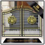 Porta de jardim de alumínio fundido revestido de cor decorativa revestida de cor
