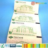 Tarjeta de papel ultraligera del transporte público de la aduana ISO14443A MIFARE EV1 RFID