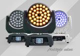 Luz principal movente do diodo emissor de luz do zoom UV superior do fornecedor 36*18W 6in1 Rgbaw de China da venda com DMX Powercon para a luz do cinema do partido do evento do estágio