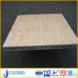 Panneau en aluminium de Homeycomb de marbre de pierre de couleur de Brown pour des matériaux de construction