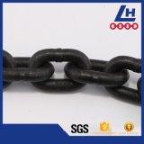 La concentrazione dell'acciaio legato G80 annerisce la catena a maglia di pesca