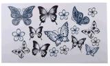 Стикер Tattoo искусствоа стикера Tattoo сексуального тела бабочки временно