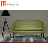 Projetos de madeira do sofá da tela do estilo clássico cinzento da cor para a sala de visitas