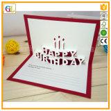 Cartolina d'auguri di carta piegante decorativa personalizzata della cartolina della scheda del regalo di natale