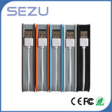Fonte de alimentação móvel 10000mAh com cabo de dados Carregador USB Bateria Li-ion Banco de energia
