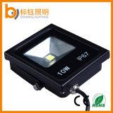 Luz de inundación de aluminio ultra fina exterior del proyector IP67 10W del Ce LED