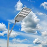40W todo em uma luz solar impermeável do diodo emissor de luz para o jardim ao ar livre de Pólo da lâmpada de rua