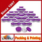 опарникы высокого качества 5ml круглые ясные с пурпуровыми крышками