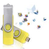Rotatable diseño USB memoria flash OTG unidad