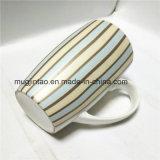 縞の完全な印刷の陶磁器のマグの磁器のコップ16oz